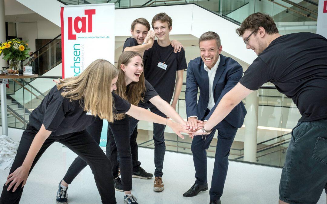 Theaterpädagogische Aktion im Landtag Niedersachsen